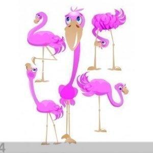 Ag Design Seinätarra Flamingos 65x85 Cm