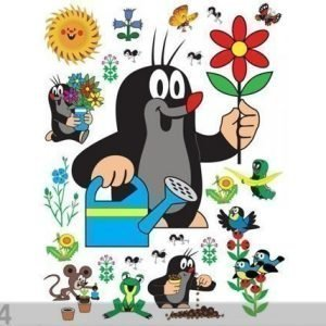 Ag Design Seinätarra Mole With Flower 65x85 Cm
