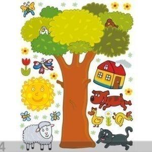 Ag Design Seinätarra Tree 65x85 Cm