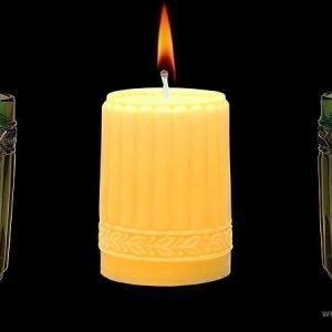 Aihio Kara kynttilä keltainen