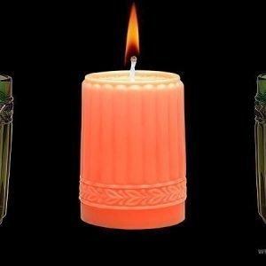 Aihio Kara kynttilä oranssi
