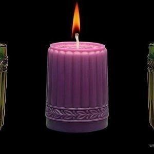 Aihio Kara kynttilä purppura