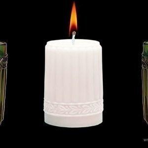 Aihio Kara kynttilä valkea
