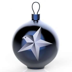 Alessi Blue Christmas Ornament Puu 1