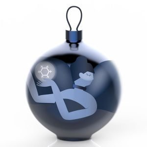 Alessi Blue Christmas Ornament Puu 6