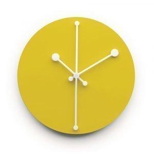 Alessi Dotty Clock Seinäkello Keltainen 20 Cm