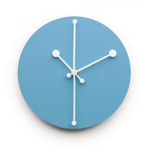 Alessi Dotty Clock Seinäkello Turkoosi 20 Cm