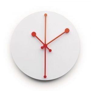 Alessi Dotty Clock Seinäkello Valkoinen 20 Cm