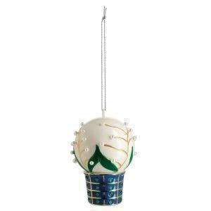 Alessi Mughetti Smeraldi Ornament Valkoinen