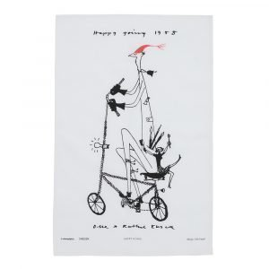 Almedahls Happy Going Keittiöpyyhe Musta / Valkoinen 47x70 Cm