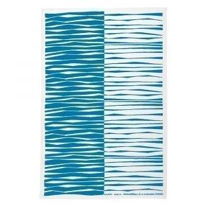 Almedahls Mambo Keittiöpyyhe Sininen / Valkoinen 47x70 Cm