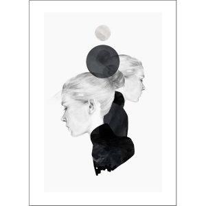 Anna Bülow Black Marble Juliste 50x70 Cm