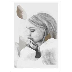 Anna Bülow Dreamer In White Juliste 50x70 Cm