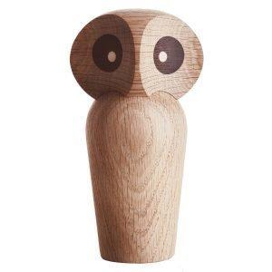 Architectmade Owl Puuhahmo Pieni Vaalea Tammi