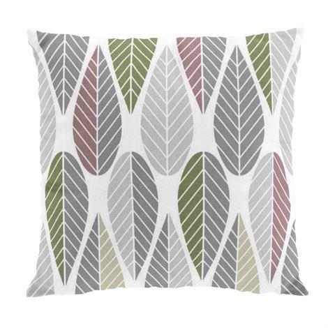 Arvidssons Textil Blader Tyynynpäällinen Vaaleanpunainen-Harmaa-Vihreä