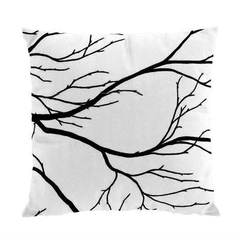 Arvidssons Textil Kvisten Tyynynpäällinen Musta-Valkoinen