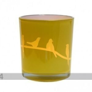 Asi Deco Kynttiläalusta Keltainen Lintu