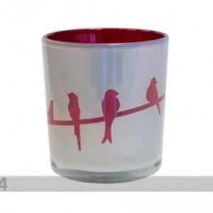 Asi Deco Kynttiläalusta Punainen Lintu