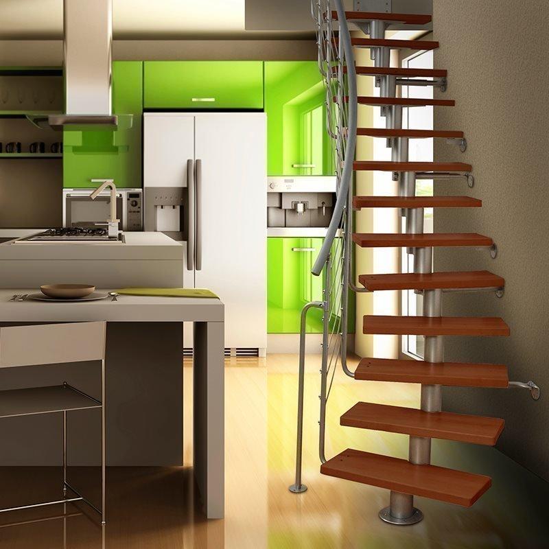 Atrium Dixi Plus Tilaa säästävät portaat