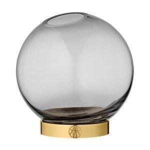 Aytm Globe Maljakko Keskikokoinen Musta Kulta