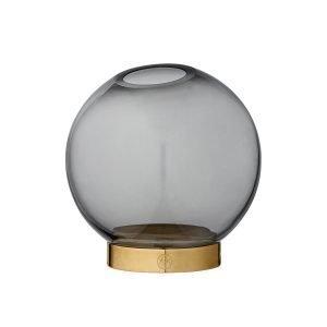 Aytm Globe Maljakko Musta / Messinki Ø10 Cm