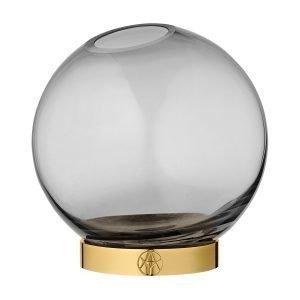 Aytm Globe Maljakko Musta / Messinki Ø17 Cm