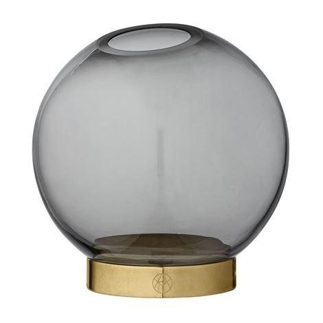 Aytm Globe Maljakko Pieni Musta-Messinki