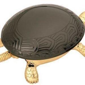 BOJ Soittokello Kultainen Kilpikonna Mustalla kilvellä