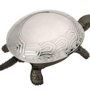 BOJ Soittokello Musta kilpikonna kromi kilvellä