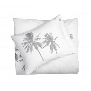 Beach House Kingsize Palm Tree Pussilakana Valkoinen 220x220 Cm