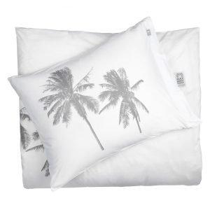 Beach House Palm Tree Pussilakana Valkoinen / Harmaa 150x210 Cm