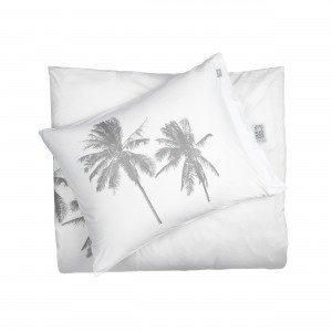 Beach House Palm Tree Tyynyliina Valkoinen 50x60 Cm