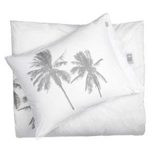 Beach House Palm Tree Tyynynpäällinen Valkoinen / Harmaa 50x60 Cm