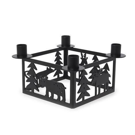 Bengt & Lotta Forest-Kynttilänjalka 4 Kynttilälle Musta