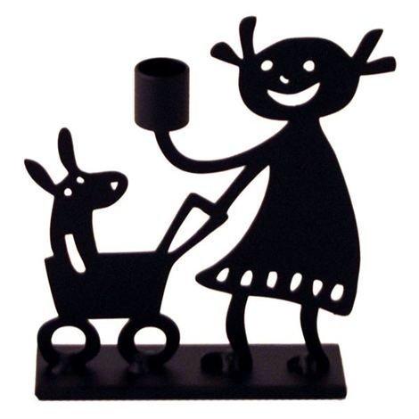 Bengt & Lotta Girl Kynttilänjalka Musta