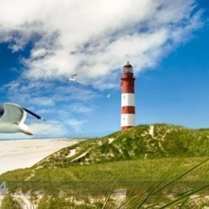 Bilder-Welten Kuvatapetti Lighthouse In Dunes 300x280 Cm