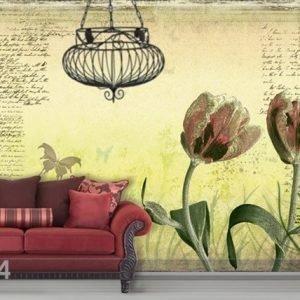 Bilder-Welten Kuvatapetti Spring Tulips 400x280 Cm