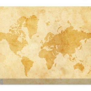 Bilder-Welten Kuvatapetti Vintage Worldmap 400x280 Cm