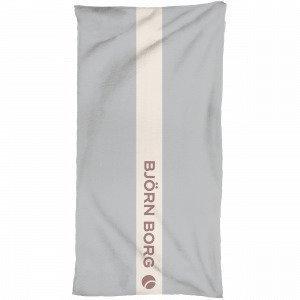 Björn Borg Velour Towel Pyyhe Harmaa 75x150 Cm