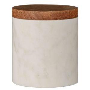 Bloomingville Kannellinen Purkki Valkoinen Marmori / Puu