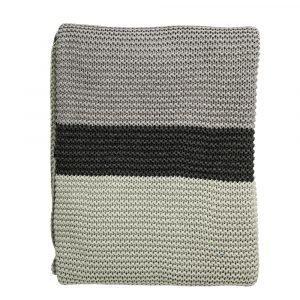 Bloomingville Knitted Huopa Minttu / Harmaa 125x150 Cm