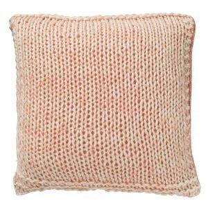 Bloomingville Knitted Tyyny Vaaleanpunainen / Valkoinen