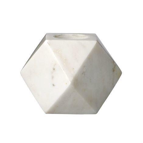 Bloomingville Kynttilälyhty Marmori Geometrinen Ø 9 cm