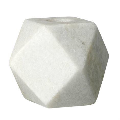 Bloomingville Kynttilänjalka Marmori Geometrinen 6x6 cm
