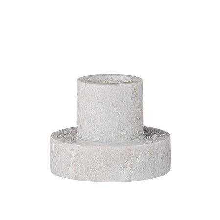 Bloomingville Kynttilänjalka marmoria valkoinen