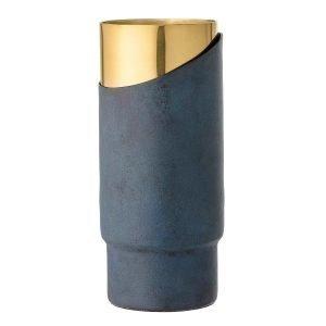 Bloomingville Maljakko Sininen / Kulta 23 Cm