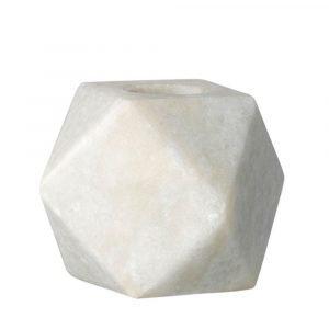 Bloomingville Marble Kynttilänjalka Valkoinen 5 Cm