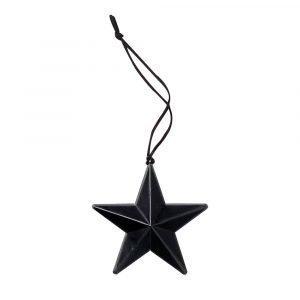 Bloomingville Ornament Tähti Musta Ø6