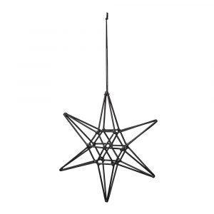 Bloomingville Ornament Tähti Musta 15 Cm