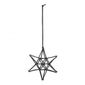 Bloomingville Ornament Tähti Musta 8 Cm